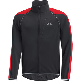 GORE WEAR C3 Windstopper Phantom Zip-Off Jacket Herre black/red